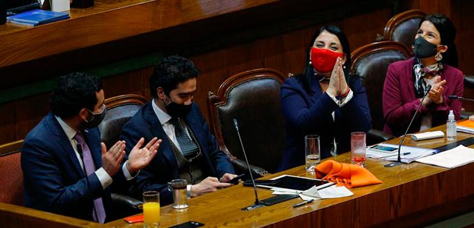 Tras la votación, la ministra de Desarrollo Social y Familia, Karla Rubilar, agradeció el apoyo de todos los parlamentarios.