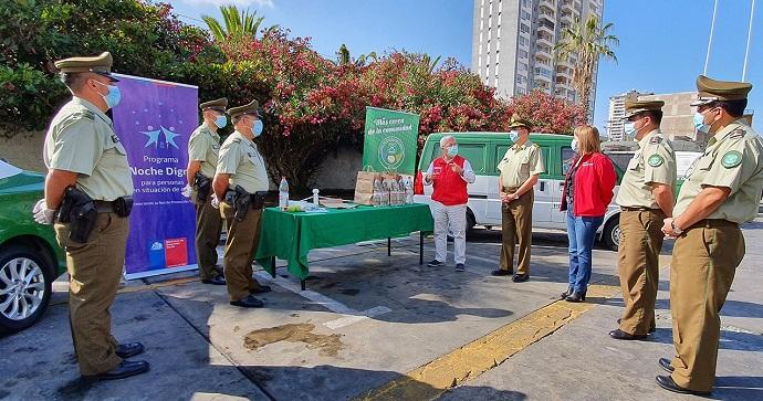 La iniciativa, que se extenderá por cerca de seis meses, es parte del Plan Protege Calle del Ministerio de Desarrollo Social y Familia, y es ejecutada por la Oficina de Integración Comunitaria de Carabineros de Chile.
