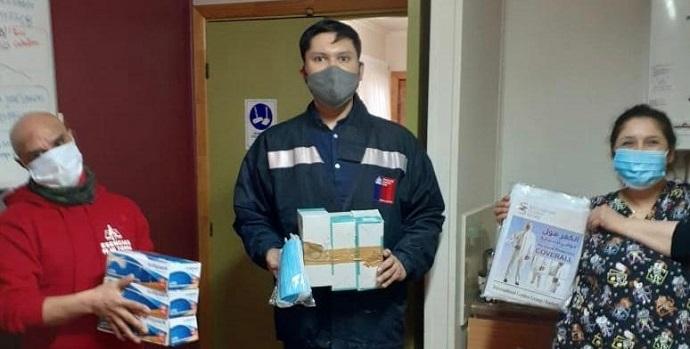 2 mil mascarillas, 2 mil guantes y 180 trajes de protección fueron donados a los albergues de Punta Arenas que reciben a personas en situación de calle.
