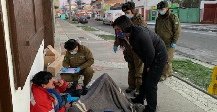 La llamada Ruta Social es parte de las iniciativas del Plan Protege Calle, estrategia intersectorial que lidera el Ministerio de Desarrollo Social y Familia para salvaguardar la vida de los más vulnerables durante el invierno.