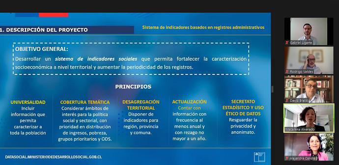 Este instrumento complementa el diagnóstico que entregan las encuestas, con indicadores que recogen la información que forma parte de los registros administrativos con los que cuenta el Estado y que ayudan a tener información con mayor frecuencia y mayor desagregación territorial.